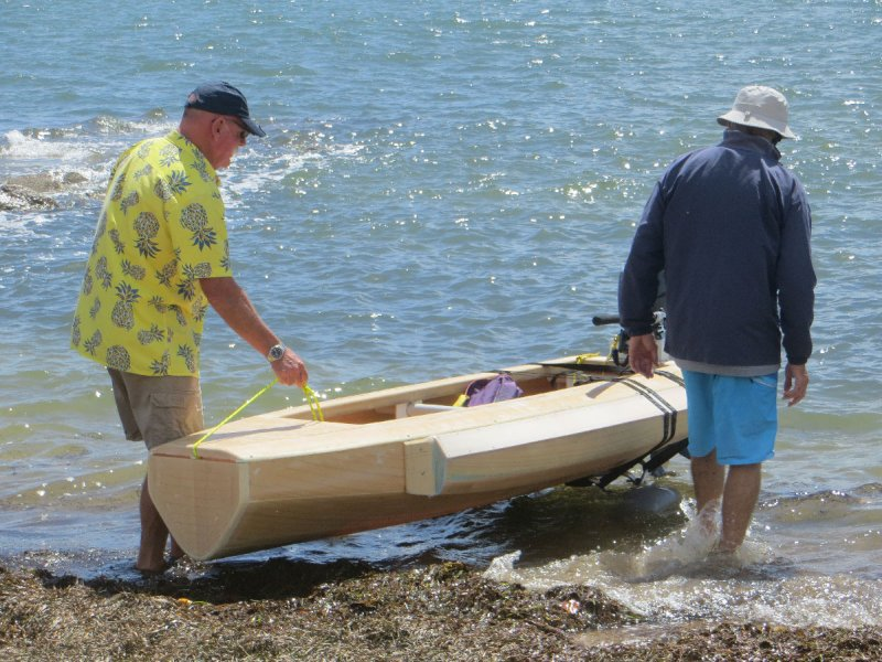 Hauling a gorgeous wooden boat